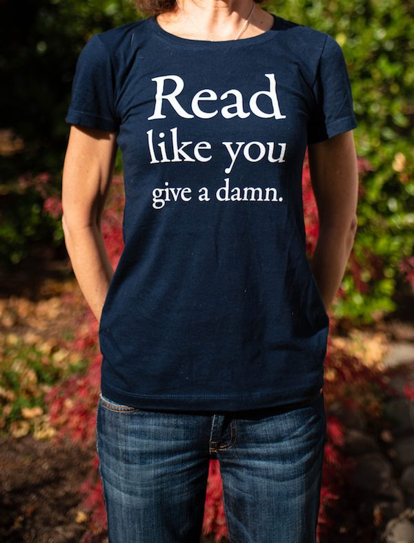Read Like You Give a Damn women's t-shirt